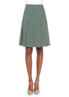 Lafayette 148 New York Rayden Pleated Wool Skirt