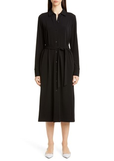 Lafayette 148 New York Rea Long Sleeve Midi Shirtdress