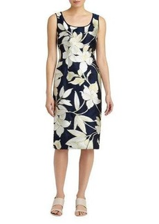 Lafayette 148 New York Rebecca Floral-Print Sheath Dress