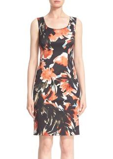 Lafayette 148 New York 'Rebecca' Floral Print Sheath Dress (Regular & Petite)