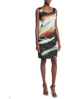 Lafayette 148 New York Rebecca Printed Sleeveless Sheath Dress