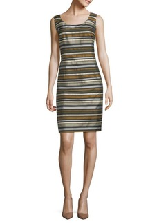Lafayette 148 Rebecca Striped Sheath Dress