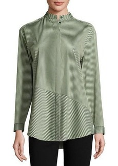 Lafayette 148 New York Reeta Striped Button-Front Top