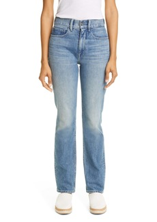 Lafayette 148 New York Reeve High Waist Straight Ankle Jeans