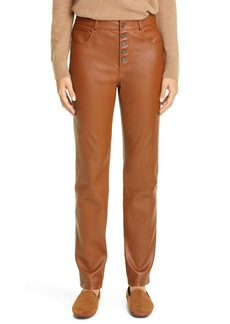 Lafayette 148 New York Reeve Leather Slim Pants