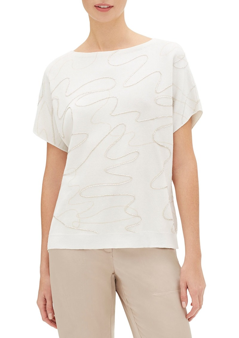 Lafayette 148 New York COTTON CREPE YARN RELAXED DO