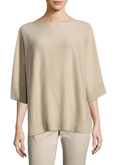 Lafayette 148 New York Relaxed Oversized Cashmere Sweater