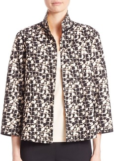 Lafayette 148 New York Reversible Bellene Grid Jacket