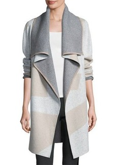 Lafayette 148 New York Reversible Cashmere-Blend Cardigan