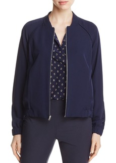 Lafayette 148 New York Reversible Irelyn Silk Bomber Jacket