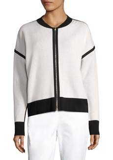 Lafayette 148 New York Reversible Knit Bomber Jacket