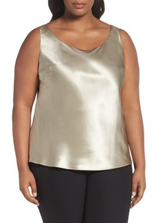 Lafayette 148 New York Reversible Silk Tank (Plus Size)