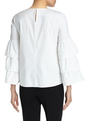 Lafayette 148 New York Revina Stretch Cotton Blend Blouse