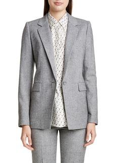 Lafayette 148 New York Rhoda Silk & Wool Blazer