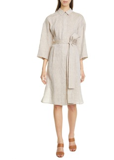 Lafayette 148 New York Rhodes Illustrious Linen Shirtdress