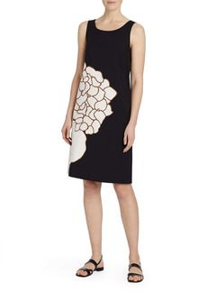 Lafayette 148 New York Rhye Floral Appliqué Shift Dress
