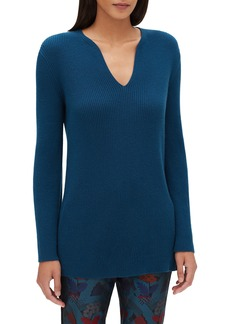 Lafayette 148 New York Rib Cashmere Tunic Sweater