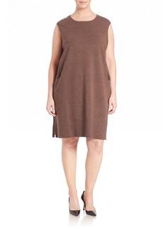 Lafayette 148 New York Rib-Detail Wool Flannel Dress