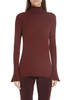 Lafayette 148 New York Rib Knit Merino Wool Sweater
