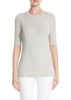 Lafayette 148 New York Rib Knit Silk Blend Sweater