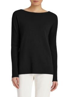 Lafayette 148 New York Rib-Knit V-Back Sweater