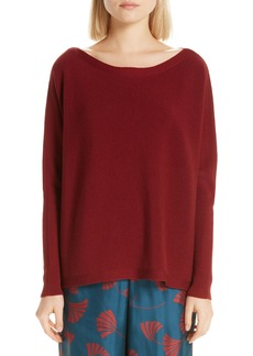 Lafayette 148 New York Ribbed Dolman Sleeve Sweater
