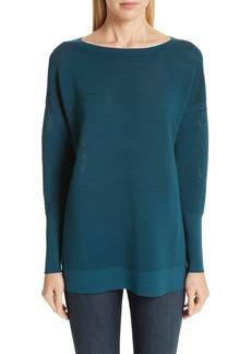 Lafayette 148 New York Ribbed Tunic Sweater