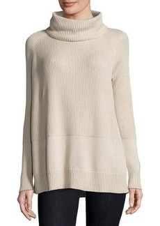 Lafayette 148 New York Ribbed Turtleneck Sweater