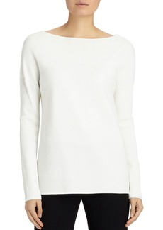 Lafayette 148 New York Ribbed V-Back Sweater