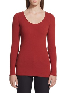 Lafayette 148 New York Ribbed Wool Sweater