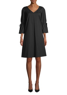 Lafayette 148 Riley Stretch V-Neck A-Line Dress