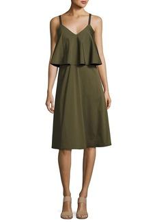Lafayette 148 New York RiRi Stretch-Cotton Popover Dress