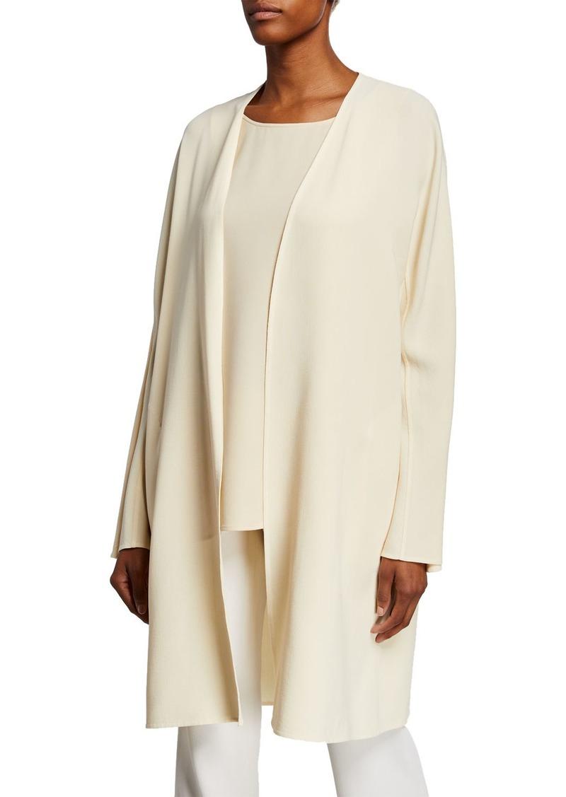 Lafayette 148 New York Rishima Open-Front Double-Face Wool Topper Jacket