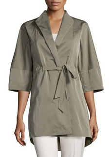 Lafayette 148 New York Rita Half-Sleeve Self-Tie Topper Jacket