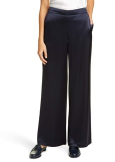 Lafayette 148 New York Riverside Satin Wide Leg Pants