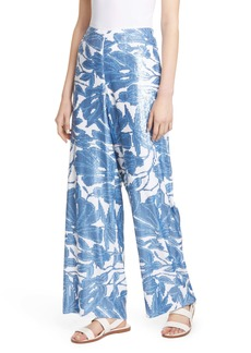 Lafayette 148 New York Riverside Wide Leg Sequin Ankle Pants