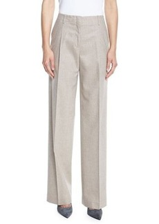 Lafayette 148 New York Rivington High-Waist Full-Leg Wool-Blend Pants