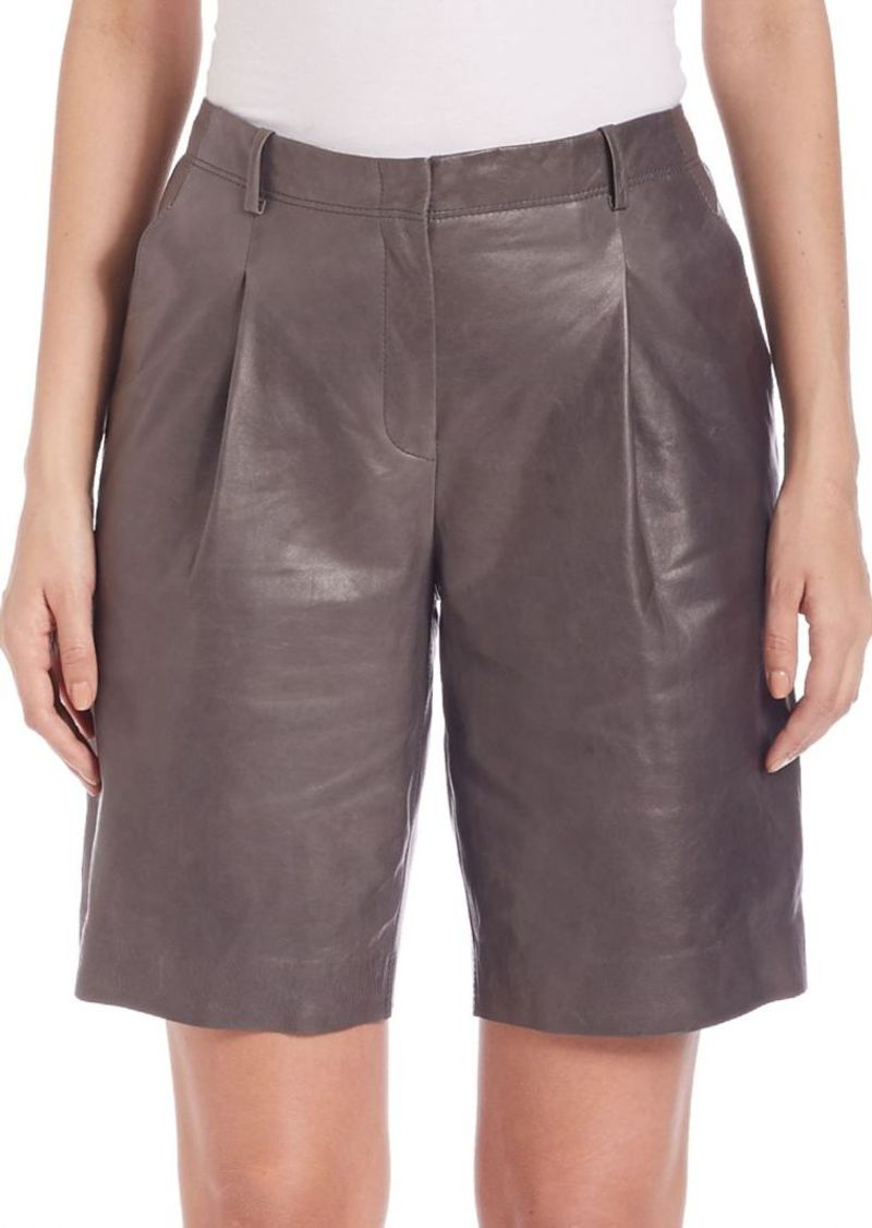 Lafayette 148 New York Rivington Leather Shorts