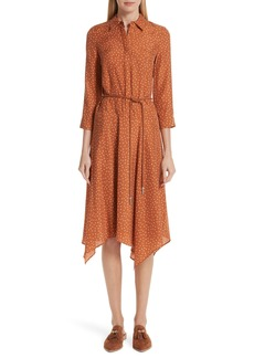 Lafayette 148 New York Rizzo Brilliant Boxes Belted Shirtdress