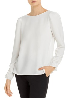 Lafayette 148 New York Romilly Ruched Blouse