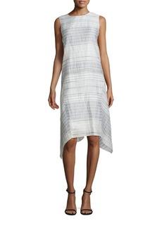 Lafayette 148 Romona Crinkle Handkerchief Hem Dress