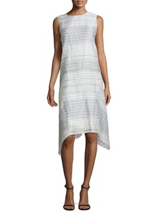 Lafayette 148 New York Romona Crinkle Handkerchief Hem Dress