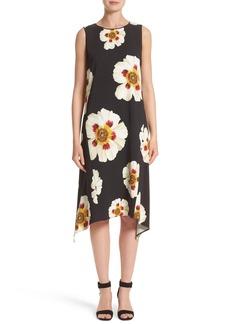 Lafayette 148 New York Romona Floral Fluid Cloth Dress