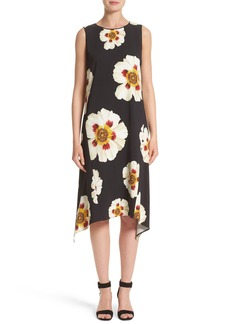 Lafayette 148 New York Romona Floral Fluid Cloth Dress