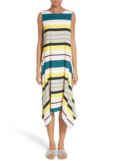 Lafayette 148 New York Romona Stripe Handkerchief Hem Dress