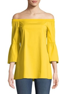 Lafayette 148 New York Rosario Off-the-Shoulder Cutout-Cuffs Blouse