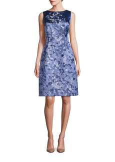 Lafayette 148 New York Rose Jacquard Sleeveless Verona Dress