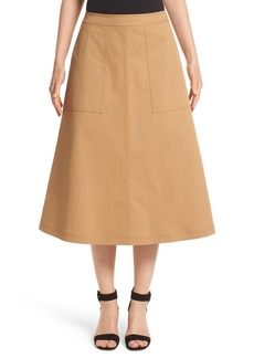 Lafayette 148 New York Rosella Stretch Cotton Midi Skirt