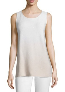 Lafayette 148 New York Round-Neck Sequined Ombre Tank