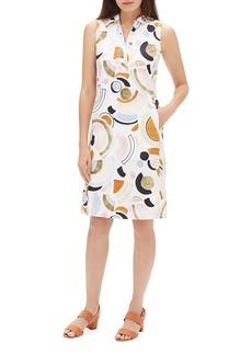 Lafayette 148 New York Rudy Sleeveless Lyrical Curves Printed Dress
